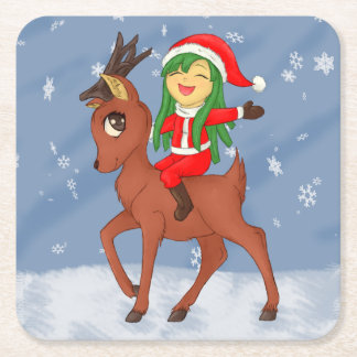 Porta-copo De Papel Quadrado Elogio do Natal