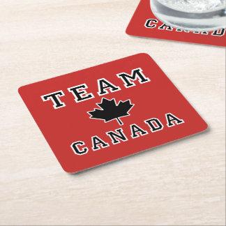 Porta-copo De Papel Quadrado Equipe Canadá