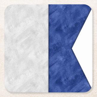 Porta-copo De Papel Quadrado Escolha de 26 bandeiras marítimas náuticas da