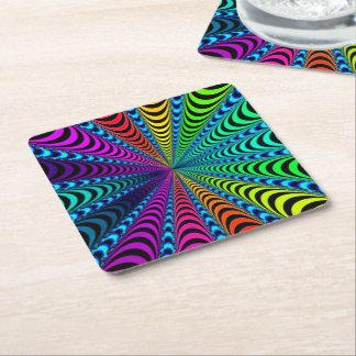 Porta-copo De Papel Quadrado Espiral do ESPECTRO, ilusão visual,