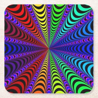 Porta-copo De Papel Quadrado Espiral do ESPECTRO, ilusão visual, arco-íris/roxo
