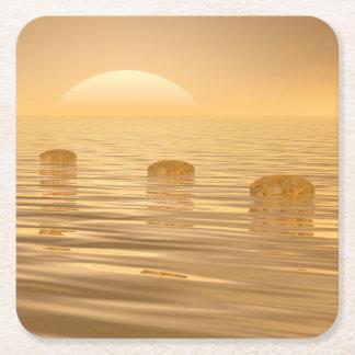 Porta-copo De Papel Quadrado Etapas no oceano - 3D rendem