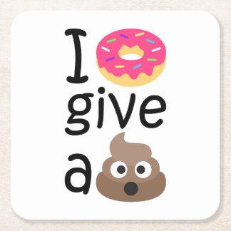 Porta-copo De Papel Quadrado Eu rosquinha dou um emoji do tombadilho