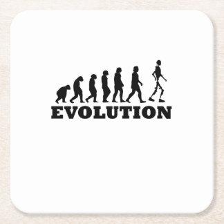 Porta-copo De Papel Quadrado Evolução do robô engraçada