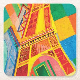 Porta-copo De Papel Quadrado Excursão Eiffel do La por Robert Delaunay