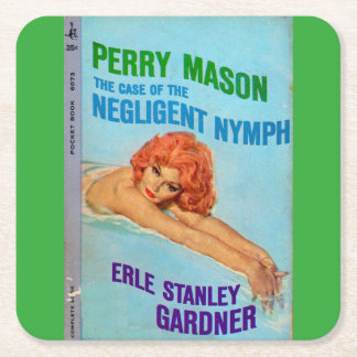 Porta-copo De Papel Quadrado Exemplo do pedreiro de Perry da capa do livro