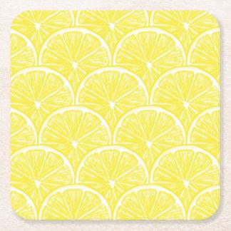 Porta-copo De Papel Quadrado Fatias do limão