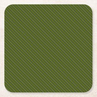 Porta-copo De Papel Quadrado Feriado verde do inverno