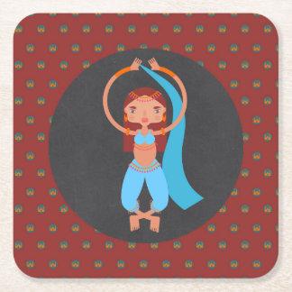 Porta-copo De Papel Quadrado Festa de aniversário da menina das noites árabes
