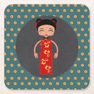 Porta-copo De Papel Quadrado Festa de aniversário da menina de China