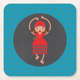 Porta-copo De Papel Quadrado Festa de aniversário da menina de dança de Gyspy