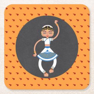 Porta-copo De Papel Quadrado Festa de aniversário indiana da menina de dança