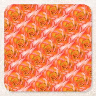 Porta-copo De Papel Quadrado Fim-acima cor-de-rosa da laranja