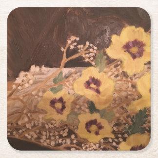 Porta-copo De Papel Quadrado Flores do Coaster/com um registro