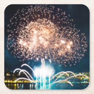Porta-copo De Papel Quadrado Fogos-de-artifício brilhantes grandes