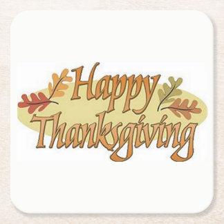 Porta-copo De Papel Quadrado Folhas felizes da queda da acção de graças
