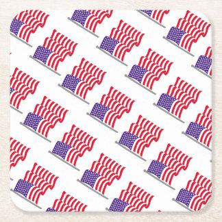 Porta-copo De Papel Quadrado Fontes do partido da bandeira americana