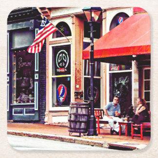 Porta-copo De Papel Quadrado Fredericksburg VA - Café exterior