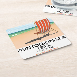 Porta-copo De Papel Quadrado Frinton-em-Mar, Essex, cartaz do beira-mar