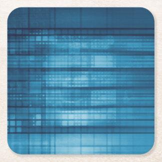 Porta-copo De Papel Quadrado Fundo do mosaico da tecnologia como uma arte do