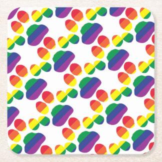 Porta-copo De Papel Quadrado Gay-Orgulho-Pata-Impressão
