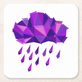 Porta-copo De Papel Quadrado Geometria roxa do contemporâneo da chuva