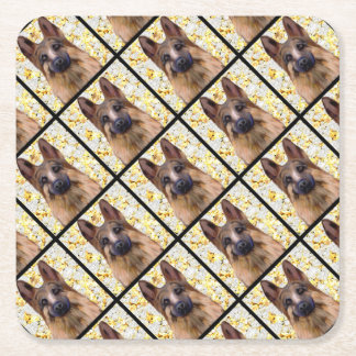 Porta-copo De Papel Quadrado German shepherd Bling