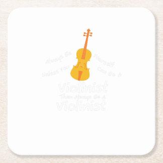 Porta-copo De Papel Quadrado GIF do jogador do violino você pode ser um