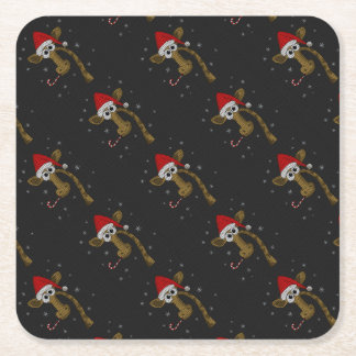 Porta-copo De Papel Quadrado Girafa do Natal