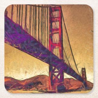 Porta-copo De Papel Quadrado Golden gate bridge