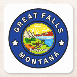 Porta-copo De Papel Quadrado Great Falls Montana