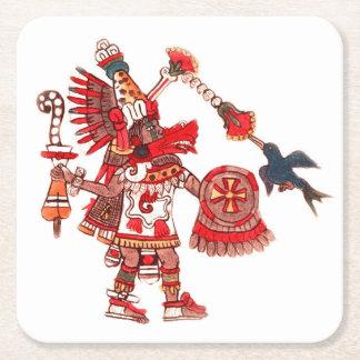 Porta-copo De Papel Quadrado Guerreiro asteca do shaman da dança