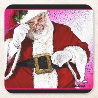 Porta-copo De Papel Quadrado HAMbWG - portas copos descartáveis - Papai Noel