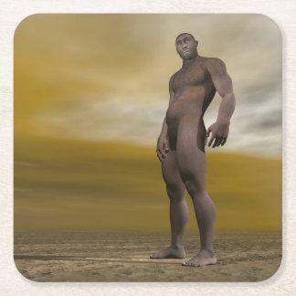 Porta-copo De Papel Quadrado Homo erectus masculino - 3D rendem