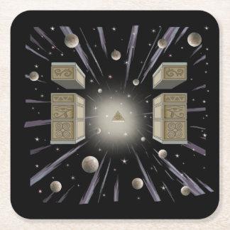 Porta-copo De Papel Quadrado Idade cósmica, nova, coaster. metafísico do copo