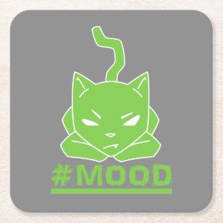 Porta-copo De Papel Quadrado Ilustração do logotipo do limão do gato do #MOOD