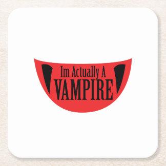 Porta-copo De Papel Quadrado Im engraçado realmente um vampiro o Dia das Bruxas
