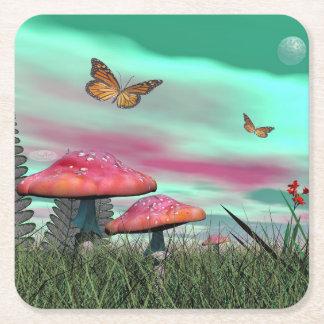 Porta-copo De Papel Quadrado Jardim da fantasia - 3D rendem