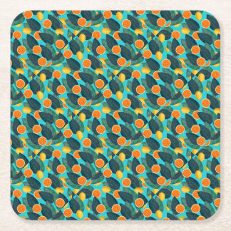 Porta-copo De Papel Quadrado limões e cerceta das laranjas
