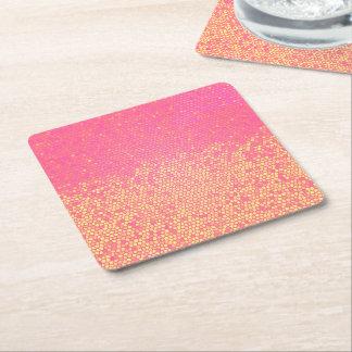 Porta-copo De Papel Quadrado Limonada cor-de-rosa Ombre