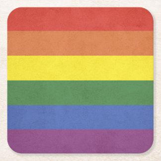 Porta-copo De Papel Quadrado Listras do arco-íris