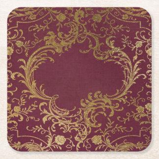 Porta-copo De Papel Quadrado Livro encadernado de couro do vintage