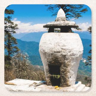Porta-copo De Papel Quadrado Local budista do culto