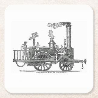 Porta-copo De Papel Quadrado Locomotiva de vapor adiantada