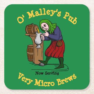 Porta-copo De Papel Quadrado Logotipo Home personalizado do bar do cervejeiro