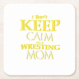 Porta-copo De Papel Quadrado Luta do Wrestle da mamã da luta engraçada