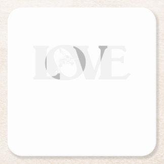 Porta-copo De Papel Quadrado Luta do Wrestle do amor