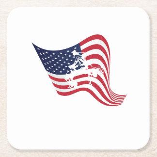 Porta-copo De Papel Quadrado Luta do Wrestle do amor da bandeira americana