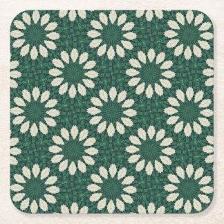 Porta-copo De Papel Quadrado Mandala. da folha verde e de prata de Sacramento