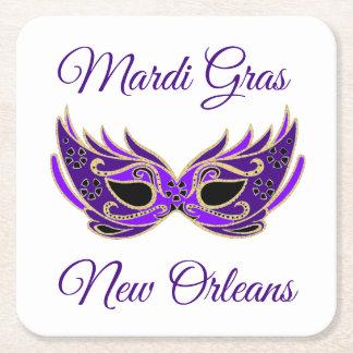 Porta-copo De Papel Quadrado Máscara de Nova Orleães do carnaval